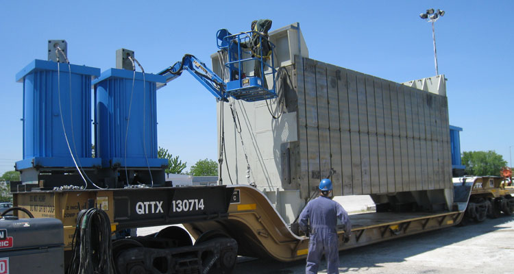 KMJ Machiney Movers - Rail Car
